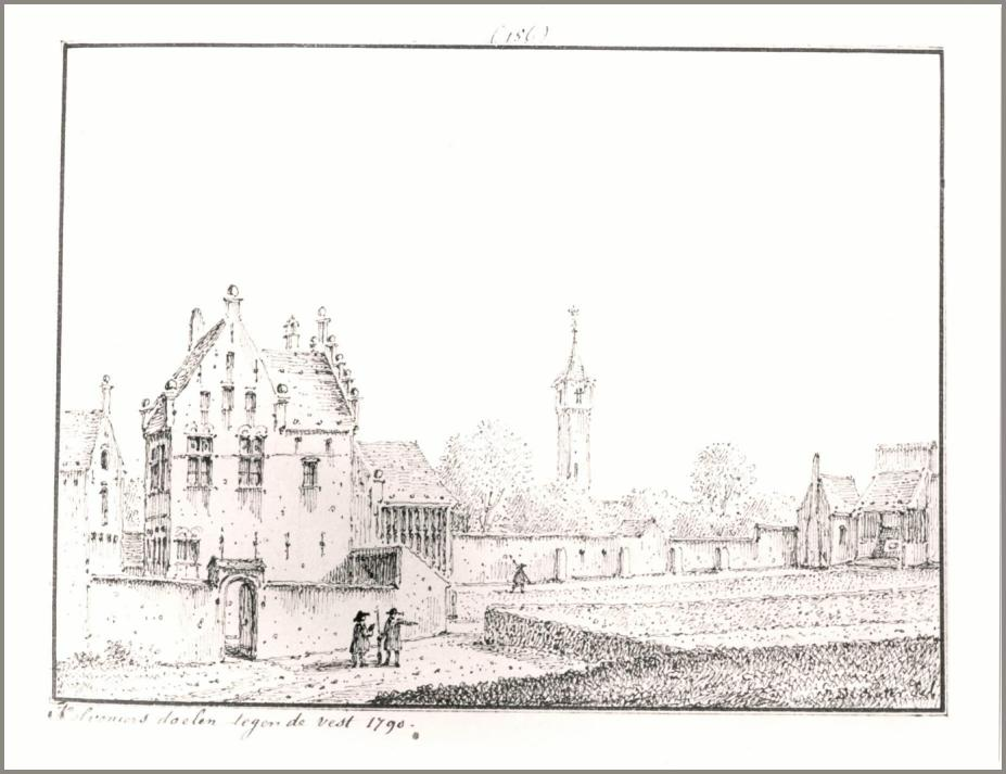 kolveniersdoelen tegen de vest 1790